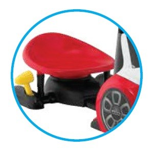 3-positions adjustable seat