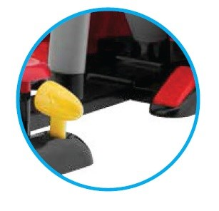 Gearstick and pedals like a real car