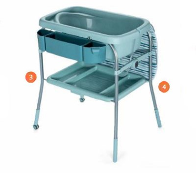 3. Adjustable:Height adjustability in 3 positions<br>4. Baby Bath Tub: Free standing configuration